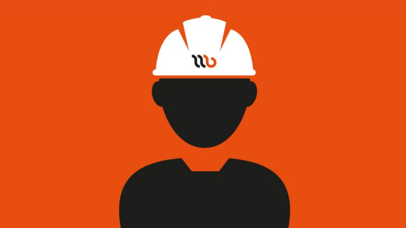 Wijnne Barends vacancies. A cartoon image of a silouet with a helmet on.